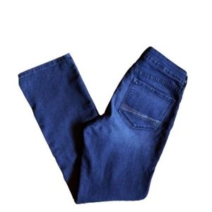 NYDJ *Tuck & Lift* Embellished Straight Jeans *8*